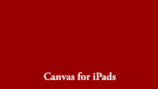 Canvas for iPads